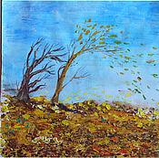 """Картины и панно ручной работы. Ярмарка Мастеров - ручная работа """"Такой большой ветер ...."""". Handmade."""