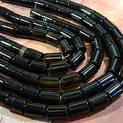 Материалы для творчества handmade. Livemaster - original item Agate beads tube 18H13 mm thread. Handmade.