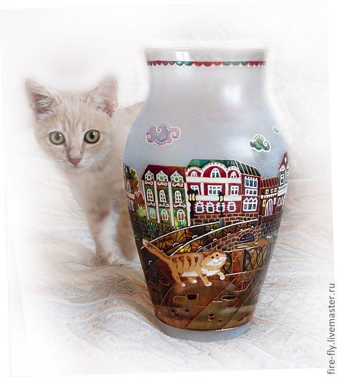 """Ваза """"Коты"""", Вазы, Железнодорожный,  Фото №1"""
