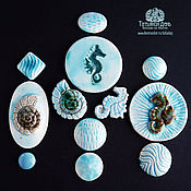 Материалы для творчества handmade. Livemaster - original item Sets of ceramic cabochons №26,27 and 28