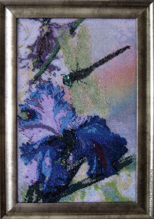 """Картины цветов ручной работы. Ярмарка Мастеров - ручная работа. Купить """"Одно мгновение"""". Handmade. Вышивка бисером, вышивка ручная"""