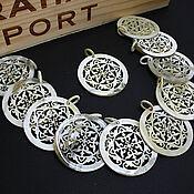 Материалы для творчества handmade. Livemaster - original item Pendant Pendants for Earrings Buffalo Horn Zebu Owl 52h28mm. Handmade.