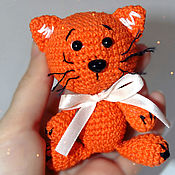 Куклы и игрушки handmade. Livemaster - original item Ginger kitten. Knitted kitty.. Handmade.