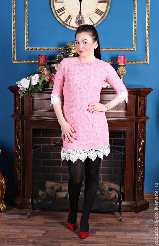 Платья ручной работы. Ярмарка Мастеров - ручная работа. Купить платье Ангелина. Handmade. Розовый, Платье нарядное, теплое платье