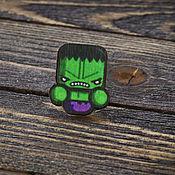 Украшения handmade. Livemaster - original item Wooden icon Hulk. Handmade.