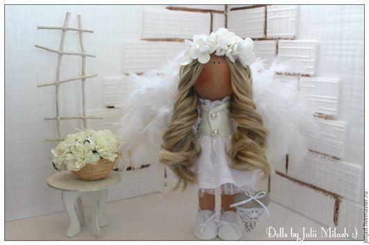 Коллекционные куклы ручной работы. Ярмарка Мастеров - ручная работа. Купить Ангел. Handmade. Белый, интерьер спальни, кукла из ткани