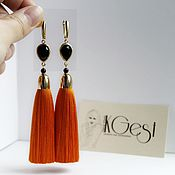 Украшения handmade. Livemaster - original item Earrings-brush