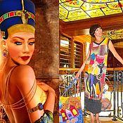 """Одежда ручной работы. Ярмарка Мастеров - ручная работа Сарафан-картина """"Реинкарнация Нефертити"""". Handmade."""