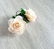 """Украшения ручной работы. Ярмарка Мастеров - ручная работа Серьги """"Нежные кремовые розы"""". Handmade."""