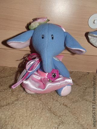 Игрушки животные, ручной работы. Ярмарка Мастеров - ручная работа. Купить Слоник. Handmade. Синий, слоненок, слоники, слон игрушка
