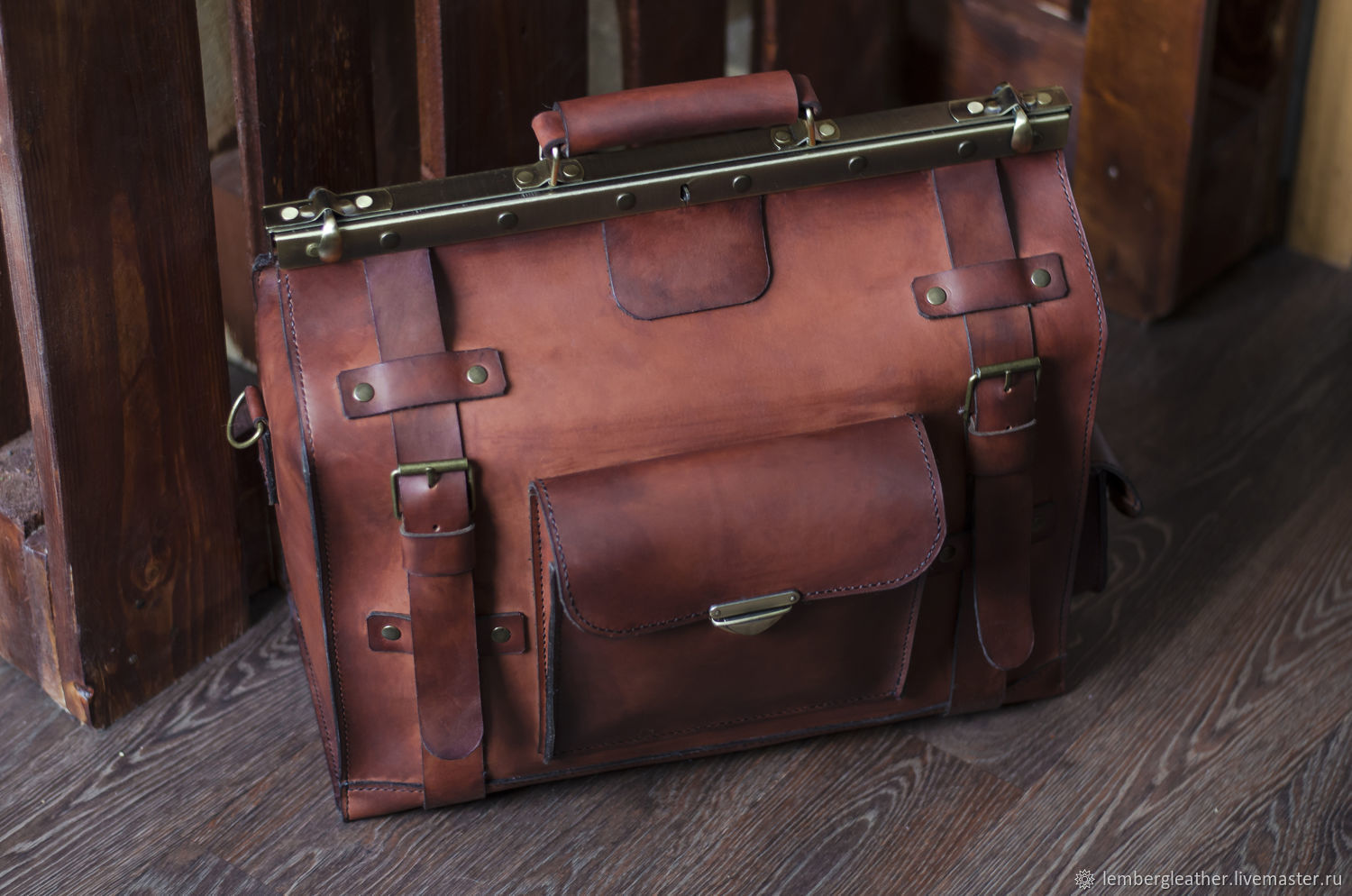 Hand-made bag, leather bag, Valise, Moscow,  Фото №1