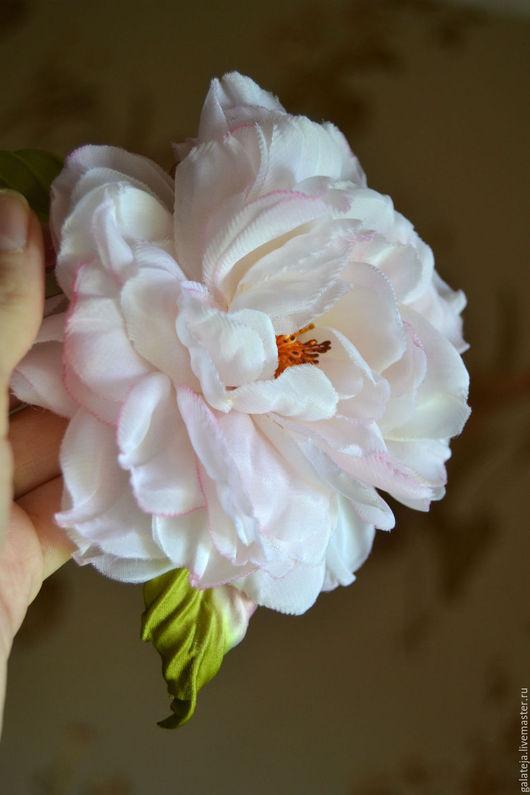 Броши ручной работы. Ярмарка Мастеров - ручная работа. Купить Цветы из шелка Брошь Маркиза. Handmade. Бледно-розовый