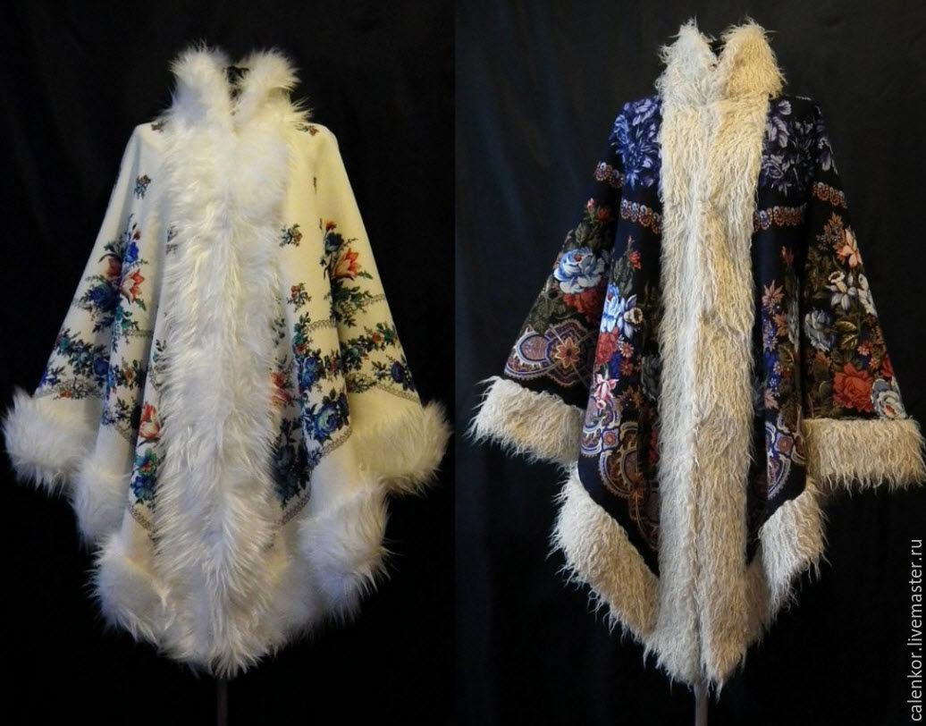 Технология пошива из павлопосадских платков