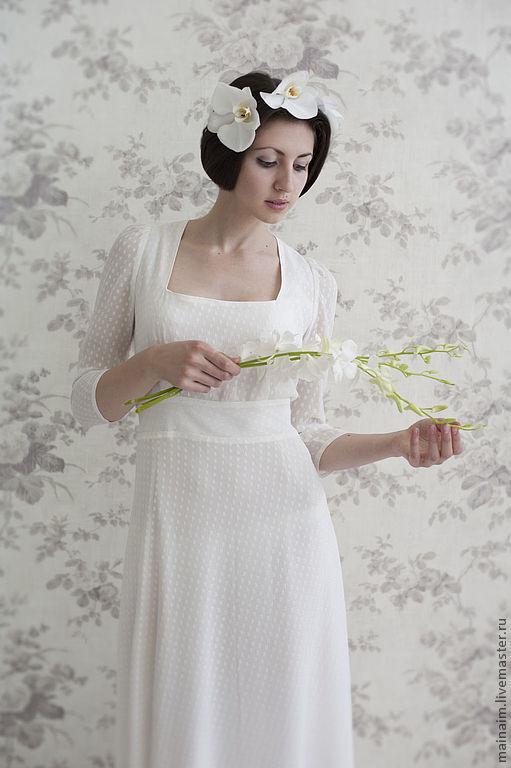 Одежда и аксессуары ручной работы. Ярмарка Мастеров - ручная работа. Купить Карина. Handmade. Белый, шелк, свадьба, свадебное платье