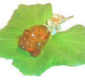 Украшения ручной работы. Ярмарка Мастеров - ручная работа Брошь Роза янтарь натуральный камня мельхиора подарок украшение янтарь. Handmade.