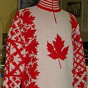 Одежда ручной работы. Ярмарка Мастеров - ручная работа Тату-свитер -  Кленовый. Handmade.