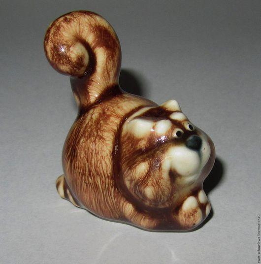 Миниатюрные модели ручной работы. Ярмарка Мастеров - ручная работа. Купить Кот  Пушистик. Handmade. Рыжий, авторская керамика, керамика