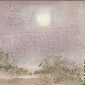 """Картины и панно ручной работы. Ярмарка Мастеров - ручная работа Акварель """"Серебристое утро"""". Handmade."""