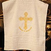 Работы для детей, handmade. Livemaster - original item Towel 40/90 Terry Save and save. Handmade.
