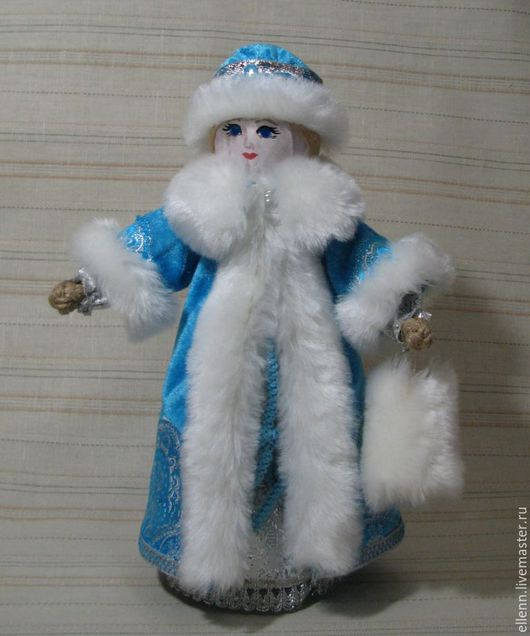 Народные куклы ручной работы. Ярмарка Мастеров - ручная работа. Купить Снегурочка, кукла текстильная. Handmade. Снегурочка, подарок на новый год