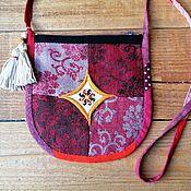 Русский стиль handmade. Livemaster - original item Handbag with Slavic symbols LADINETS. Handmade.