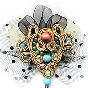 Украшения handmade. Livemaster - original item soutache brooch. Handmade.