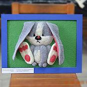 Картины и панно ручной работы. Ярмарка Мастеров - ручная работа Ушастик. Handmade.