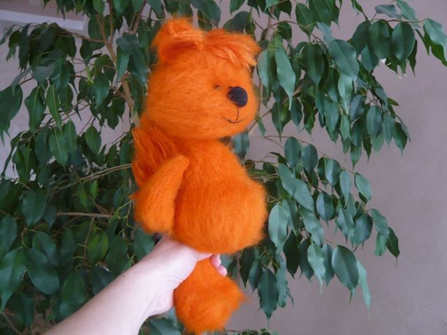 Crocheted squirrel Basik - (knitted toy, knitted squirrel), Stuffed Toys, Teykovo,  Фото №1