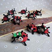 Аксессуары handmade. Livemaster - original item textile keyrings ladybugs. Handmade.