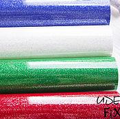 Термотрансферная пленка с глиттером,20х25см, 33х25см, 20х50см. 3 цвета