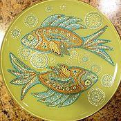 "Посуда ручной работы. Ярмарка Мастеров - ручная работа Тарелка ""Рыбы"". Handmade."