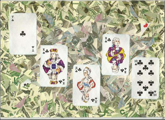 Фен-шуй ручной работы. Ярмарка Мастеров - ручная работа. Купить Покер .Флеш-рояль.. Handmade. Денежный подарок, карты