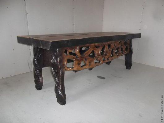 Мебель ручной работы. Ярмарка Мастеров - ручная работа. Купить стол в гостинную. Handmade. Коричневый, авторская ручная работа