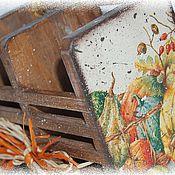 Для дома и интерьера ручной работы. Ярмарка Мастеров - ручная работа Ящичек Осень. Handmade.
