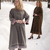 """Одежда ручной работы. Ярмарка Мастеров - ручная работа Бохо-платье """"Полонез"""" серое. Handmade."""