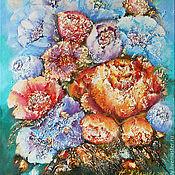 Картины и панно handmade. Livemaster - original item Colorful Summer a bouquet of flowers, painting flowers painting flower. Handmade.