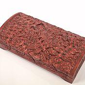 Для дома и интерьера ручной работы. Ярмарка Мастеров - ручная работа Резьба по дереву. Шкатулка-купюрница с рябиной. Handmade.