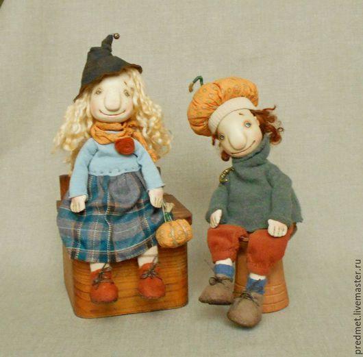 Коллекционные куклы ручной работы. Ярмарка Мастеров - ручная работа. Купить Trick- or- treat. Handmade. Хэллоуин, пара кукол