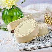 Косметика ручной работы. Ярмарка Мастеров - ручная работа Натуральное шелковое мыло с нуля со сливками (90%оливы). Handmade.