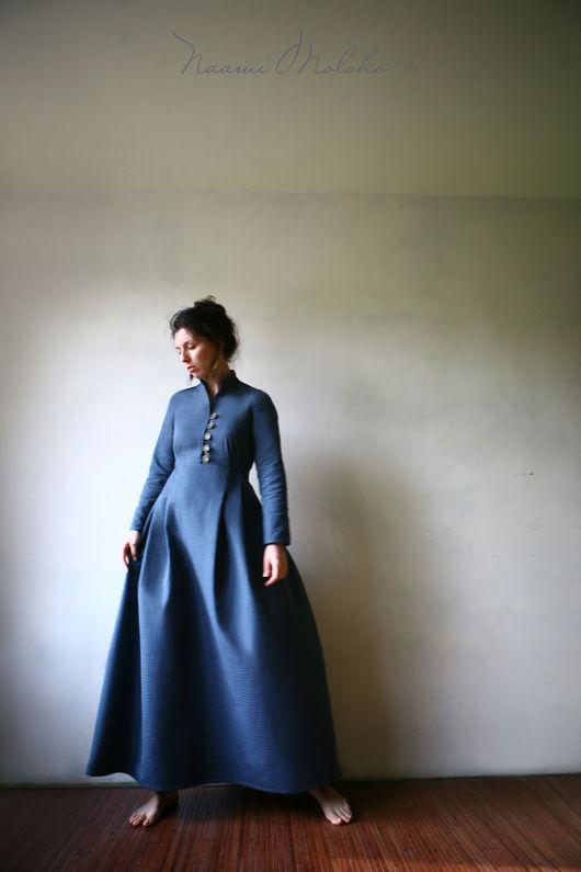 """Платья ручной работы. Ярмарка Мастеров - ручная работа. Купить Платье """"Азра"""". Handmade. Синий, платье в пол, православное платье"""