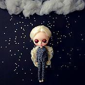 """Одежда для кукол ручной работы. Ярмарка Мастеров - ручная работа Одежда для Блайз - пижамка """"звездный дождь"""". Handmade."""