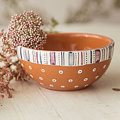 Посуда handmade. Livemaster - original item Plum pudding. A bowl of handmade ceramics. Handmade.