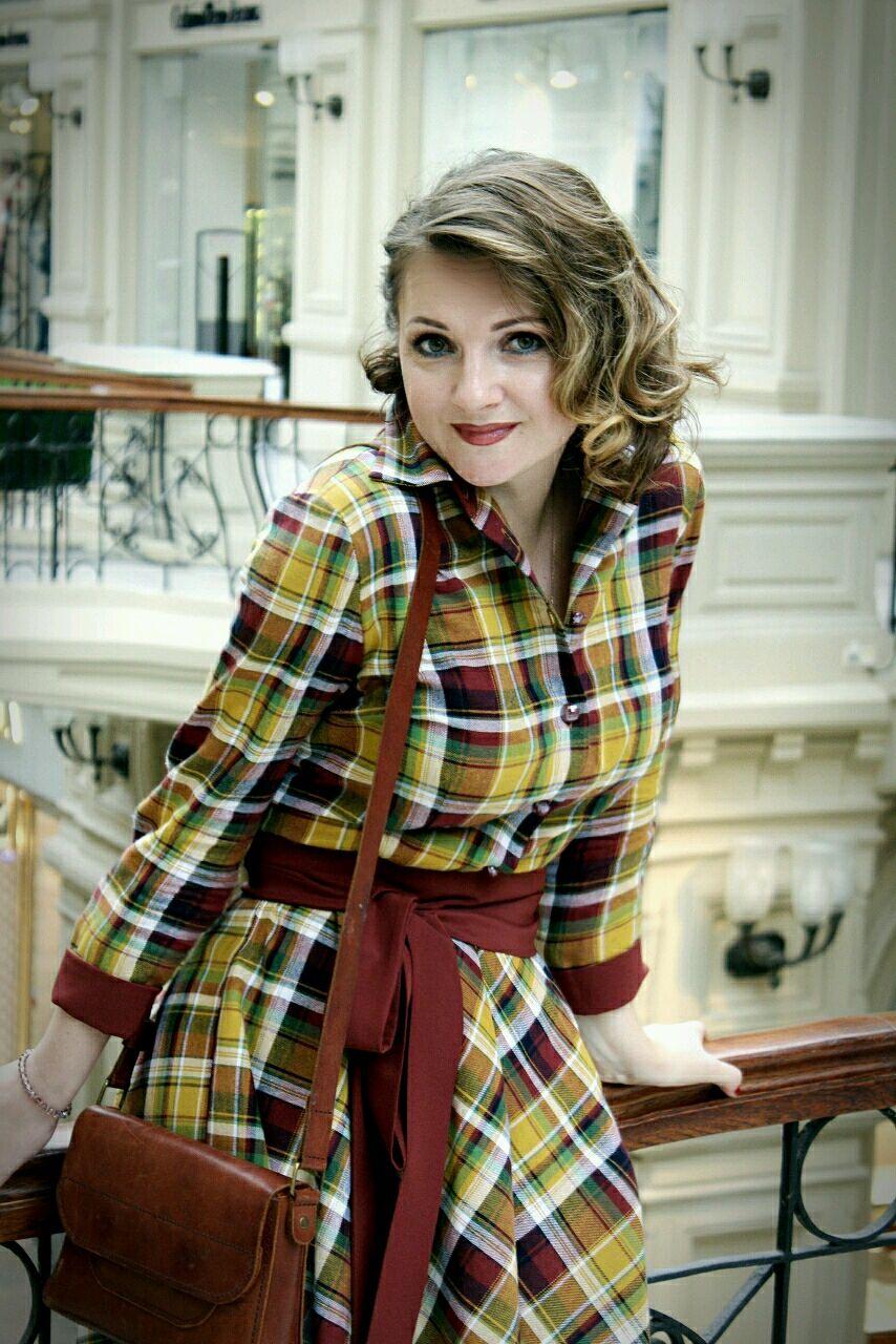 """Платье-рубашка""""Теплая горчица"""", Платья, Москва, Фото №1"""