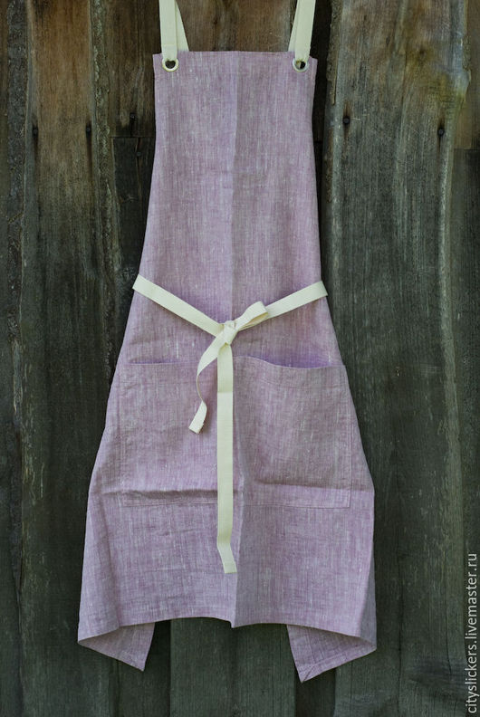 Кухня ручной работы. Ярмарка Мастеров - ручная работа. Купить Фартук из льна (Elegant Lavender). Handmade. Фартук, для кухни