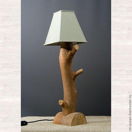 Освещение ручной работы. Ярмарка Мастеров - ручная работа. Купить Настольная лампа / ночник. Handmade. Хаки, настольная лампа