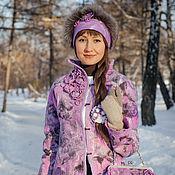"""Одежда ручной работы. Ярмарка Мастеров - ручная работа Жакет-пальто ручной работы """"cranberry flowers"""". Handmade."""