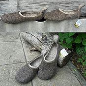"""Обувь ручной работы. Ярмарка Мастеров - ручная работа Тапочки валяные """"Деревенька"""". Handmade."""