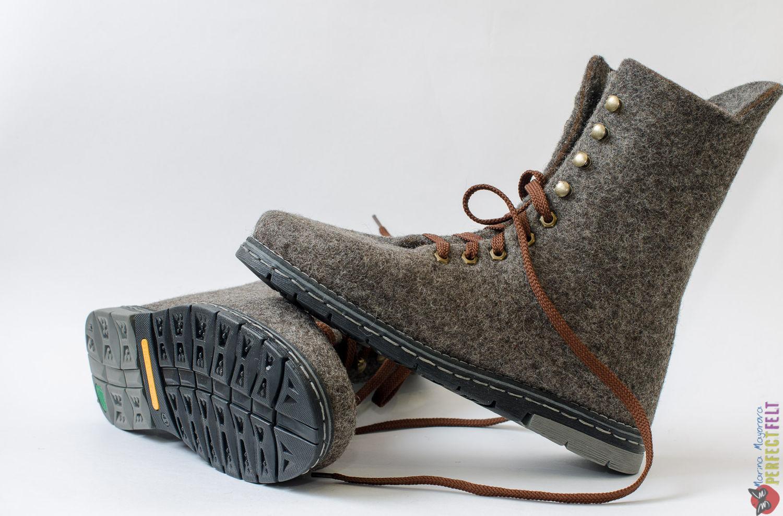4edb2e1bb Ботинки мужские валяные `Steel man`. Купить Мужскую обувь ручной работы в  Санкт- ...