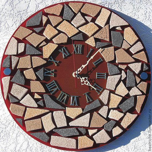 """Часы для дома ручной работы. Ярмарка Мастеров - ручная работа. Купить Часы """"Мозаика"""". Handmade. Настенные часы, авторские часы"""