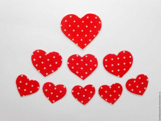 Магниты ручной работы. Ярмарка Мастеров - ручная работа. Купить Сердечки. Handmade. Ярко-красный, сердечки, подарок, ламинирование